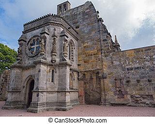 Rosslyn chapel, Scotland - Ornate Rosslyn chapel in...