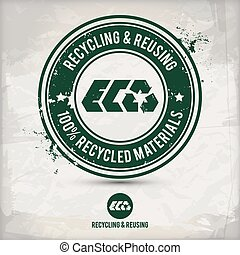alternative reusing stamp - alternative recycling and...