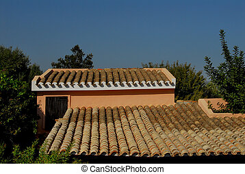 roff - especially a roof with tiles