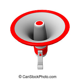 loudspeaker red white