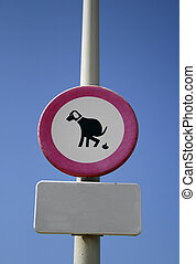 no pooping allowed - \'No pooping by dogs allowed\' sign...