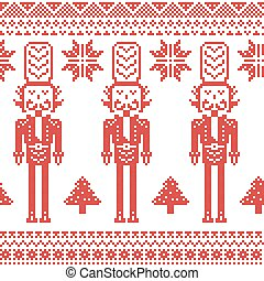 Nutcracker soldiers seamless red - Nutcracker soldiers...