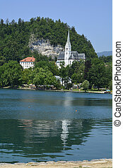 Slovenia, Bled - Slovenia, St. Martin church on lake Bled...