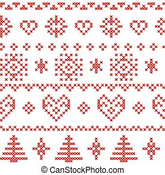 Nordic pattern with snowflakes