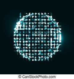 Abstract technological background, 3d sphere, light lines...