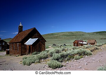 Old wooden church in Bodie