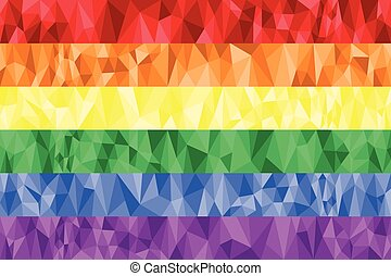 Gay and Lesbian rainbow flag poly
