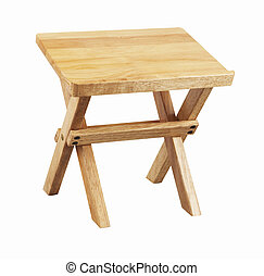 stool - the wooden stool for book