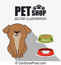pet shop design, vector illustration eps10 graphic