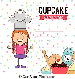 delicious cupcake design, vector illustration eps10 graphic