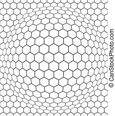 Convex net - Seamless pattern of the convex hexagonal net