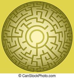 Convex round maze - Illustration of the convex round maze