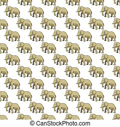 Elephant pattern - Seamless pattern of the cartoon elephants