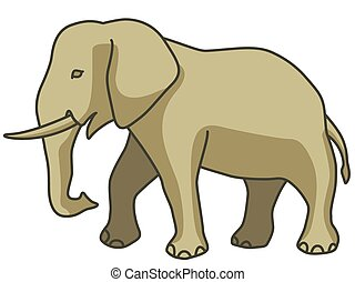 Elephant - Illustration of the cartoon elephant