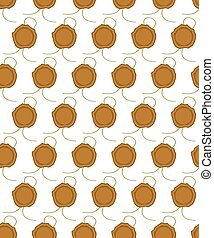 Sealing wax press pattern - Seamless pattern of the sealing...