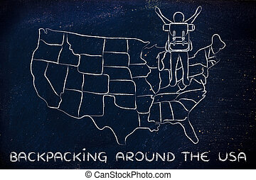 backpacking around the usa