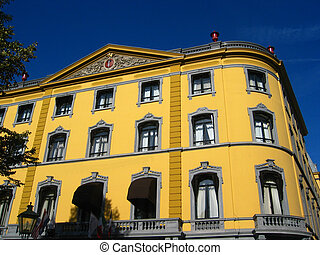 Classic architecture in yellow - Beautiful yellow old...