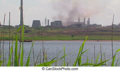 Lake near the Steel Plant - Lake near the Metallurgical...