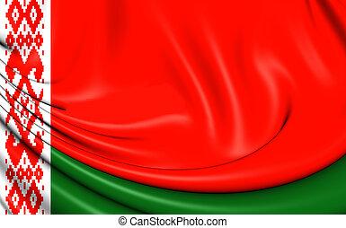 Flag of Belarus - 3D Flag of the Belarus Close Up