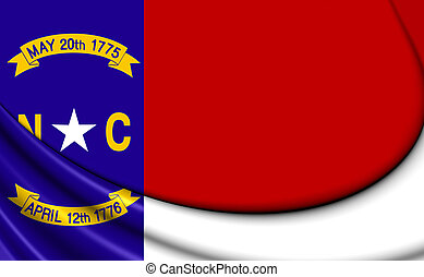 Flag of North Carolina, USA.