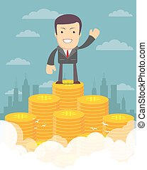 Proudly Businessman concept - Vector illustration of...