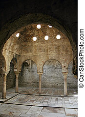 Inside the Alhambra - Catacombs in the Alhambra palace in...