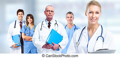 Group of medical doctors. - Group of medical doctors over...