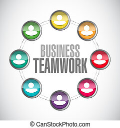 business teamwork network sign illustration design graphic