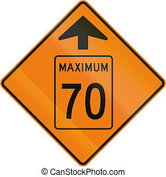 Temporary Maximum Speed 70 Kmh Ahead in Canada - Temporary...