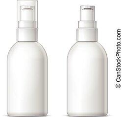 Mock up Shaving gel foam light gra - Mock up White plastic...