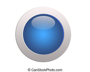 button for web design isolated on white