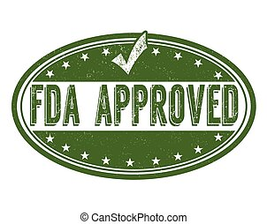 FDA approved stamp - FDA approved grunge rubber stamp on...