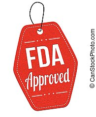 FDA approved label or price tag - FDA approved red leather...