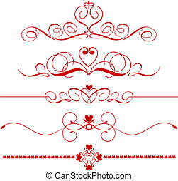 Heart dividers - Various different designs of decorative...