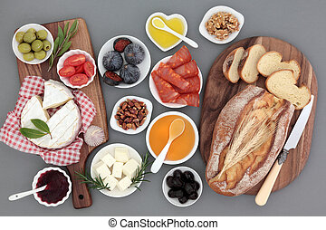 Delicious Picnic Food - Picnic food still life with meat,...