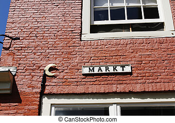 Market street - Old Dutch marketstreet name in medieval town...