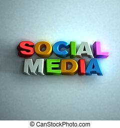Social Media 3D word