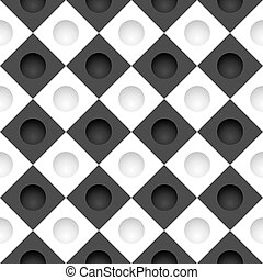 Black and white grid with round holes