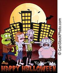 Zombie in the city-Happy Halloween