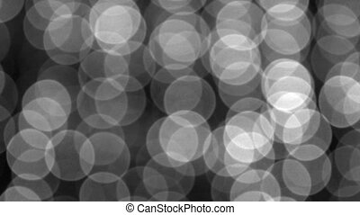White Bokeh Lights Swaying in a Light Breeze - 1920x1080...