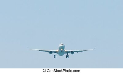 Commercial Airliner on Final Approach for Landing at Phuket...