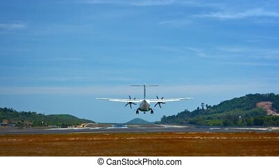 Small Commuter Plane Lands at Phuket International Airport...