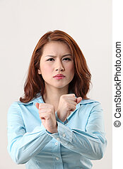 reject - woman with hand gesture -reject