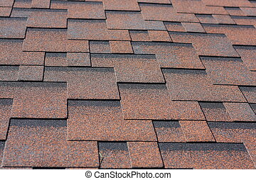 Asphalt shingles - Professionally laid asphalt shingle...