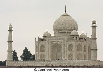 Taj Mahal - Rear side of the Taj Mahal in Agra, India