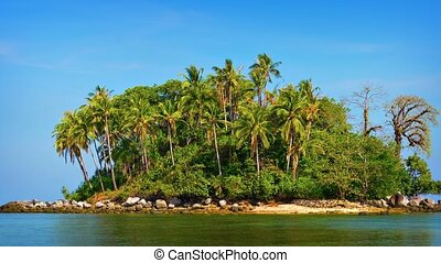 Undeveloped Little Tropical Island near Phuket in Southern...