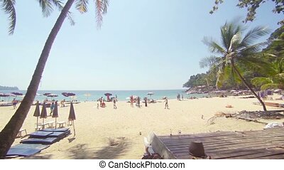 Bright, Tropical Sun over a White, Sandy Beach - FullHD...