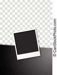 Black flyer design with polaroid photo frame