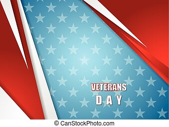 Abstract Veterans Day background Vector design
