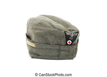 German Garrison Cap - World War II German military garrison...